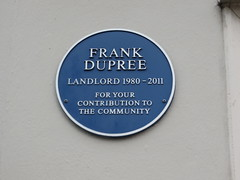 Photo of Frank Dupree blue plaque