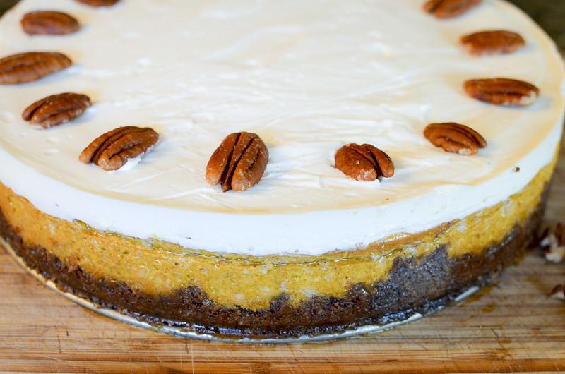 Bourbon Pumpkin Cheesecake
