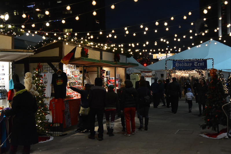 Christmas Market in Denver, Colorado. Credit Paul Iwancio