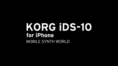 KORG iDS-10 for iPhone Splash screen