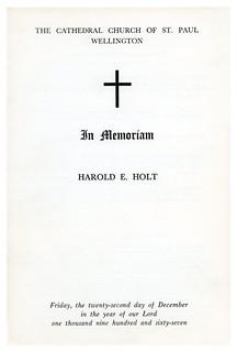 Memorial Service for Australian Prime Minister Harold Holt (1967)