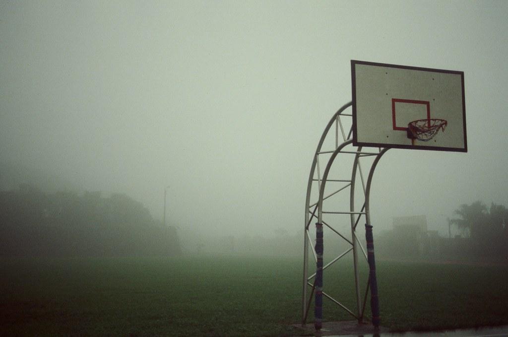 欽賢國中 九份 KODAK 500T 5219 2015/11/14 更有孤獨感的籃球架。  Nikon FM2 KODAK 500T 5219 V3 4754-0016 Photo by Toomore