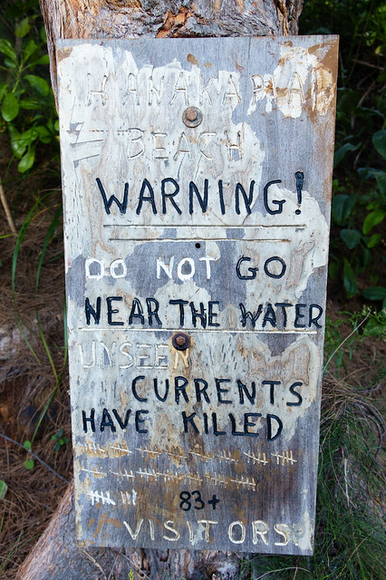 Do not go near the water
