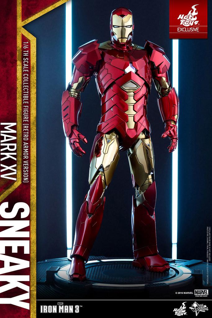 "Hot Toys – MMS396 – 《鋼鐵人3》 – 1/6比例 鋼鐵人馬克15""詭秘"" (經典配色版) Sneaky Mark XV (Retro Armor Version)"
