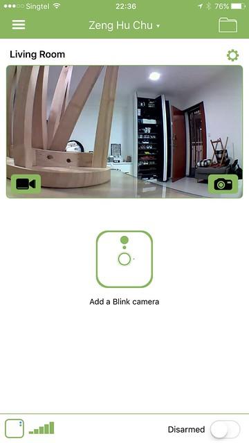 Blink iOS App - Home