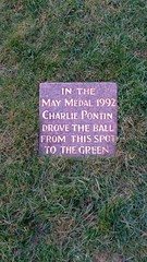 Photo of Charlie Pontin marble plaque