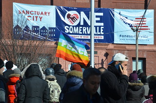 """We Are One Somerville: Sanctuary City Rally"" 