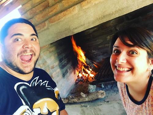 Quien se atrevía a decir que no podíamos prender el fuego para el asado? #GayrlPower