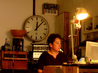 Yoko working late...
