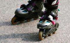 outdoor shoe(0.0), inline skates(1.0), footwear(1.0), shoe(1.0), roller skates(1.0), roller skating(1.0),