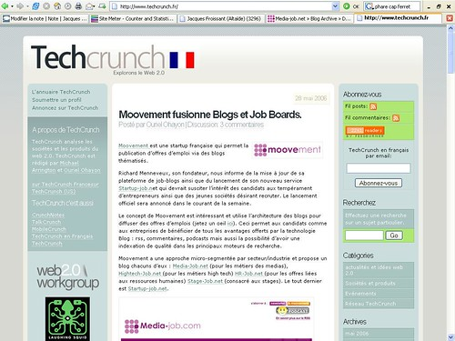 Moovement sur Techcrunch