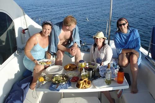 Yacht dinner, dinner