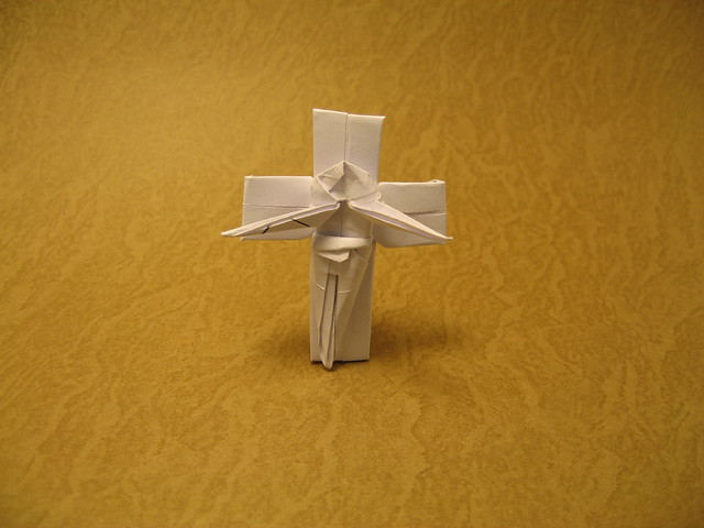 how to make an origami cross