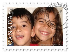 nose, face, postage stamp,