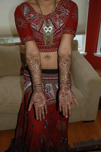 Full Arabic style mehndi