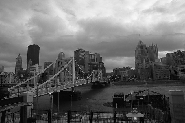 From PNC Park - 2 in Black & White