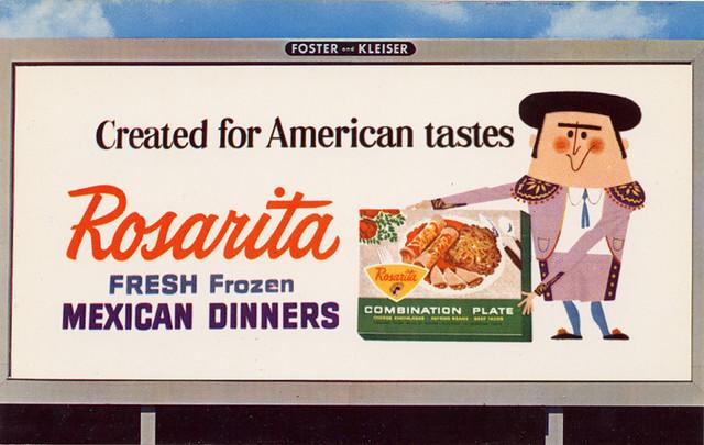 Rosarita Frozen Mexican Dinners Billboard, 1960's