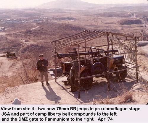 dmz recoilessrifle rokarmy jeep koreandmz radar dmzfence groundsurveillanceradar kaesong radarsite