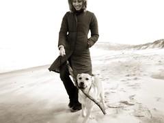 Mira walks Sunshine
