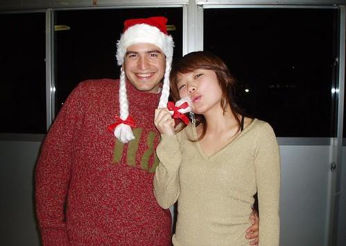 Con Mio en la fiesta de Navidad