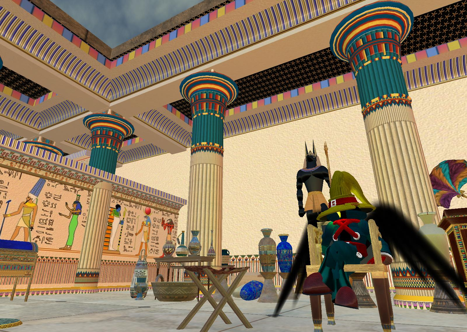 Lily breathes life into the architecture and culture of ancient egypt
