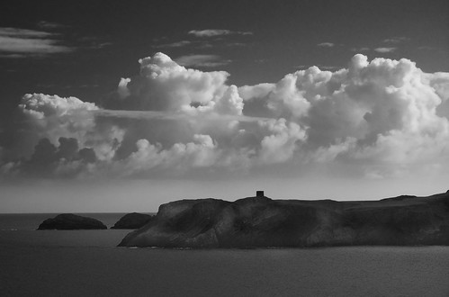 Clouds over Abereiddi Tower