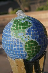 art, sphere, green, earth, globe, blue,