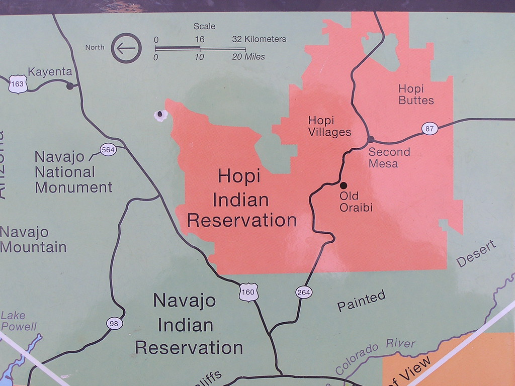 Hopi Indian Reservation Map a photo on Flickriver