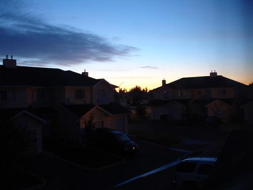 summer canada night sunrise dark 2006 saskatoon saskatchewan silverspring neighbourhood subdivision