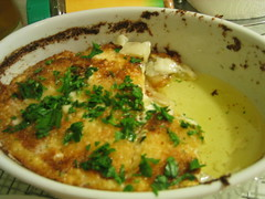 Bechemel + potatoes = potatoes gratin