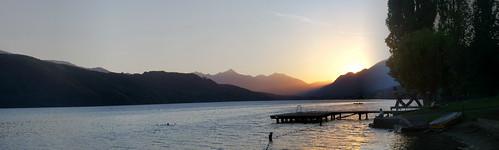 sunset panorama austria sonnenuntergang pentax dellach kaernten optio330 millstaettersee