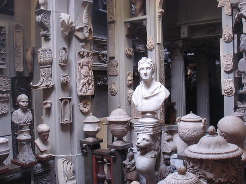 antiquities gallery at Sir John Soane's museum