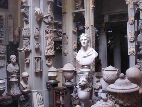 antiquities gallery at Sir John Soane's museum