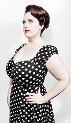 pattern, neck, hairstyle, model, clothing, cocktail dress, polka dot, hair, fashion, photo shoot, design, dress,