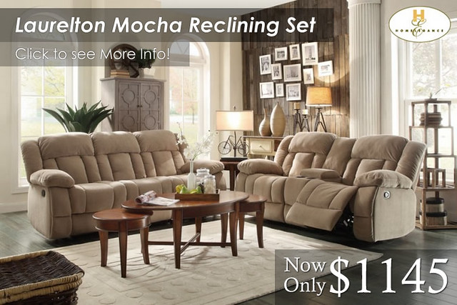 Laurelton Mocha Reclining Set