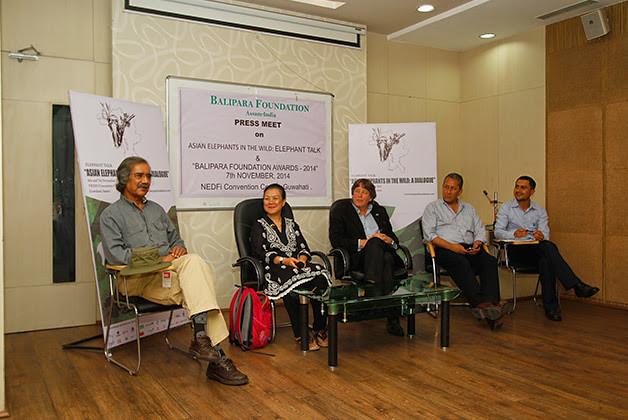 Mr Mike Pandey, Dr Khyne U Mar, Mr Ranjit Barthakur & Mr Robin Eastment (left to right), addressing the media.
