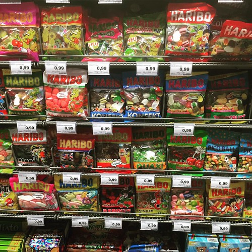 Important food section in German supermarkets : the Haribo selection #berlin