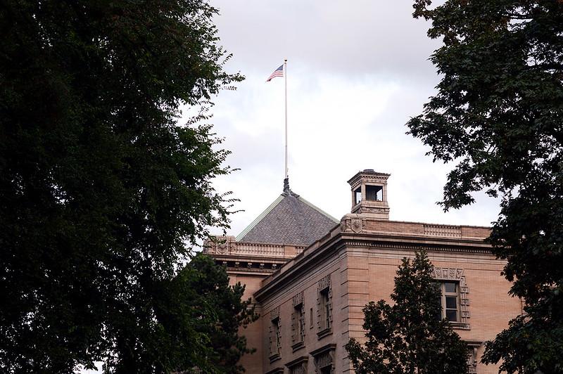 Customs Building Flag
