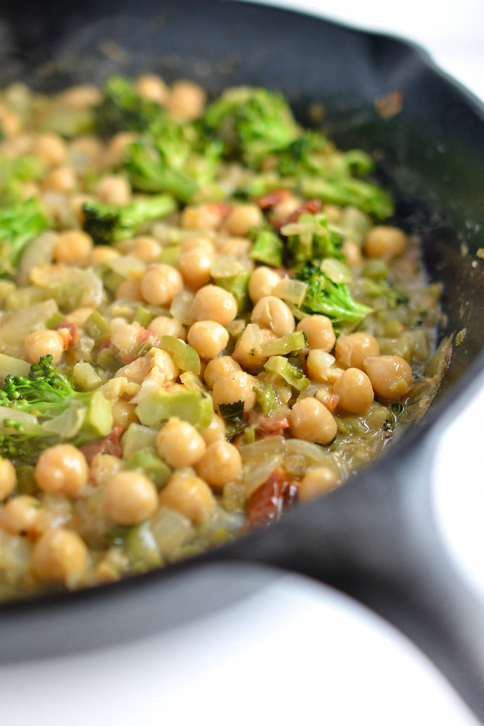 Coconut-Braised Chickpeas and Broccoli | Things I Made Today