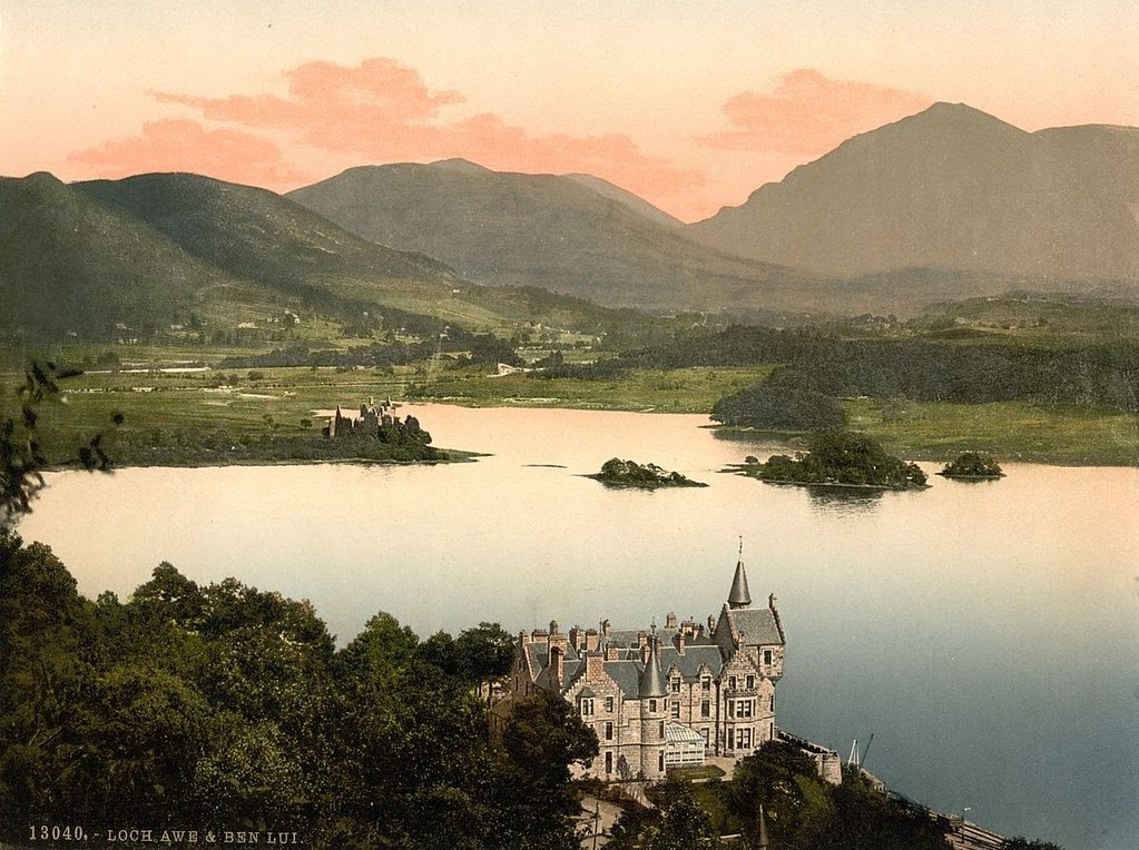 Hotel and Ben Lui, Loch Awe, Scotland