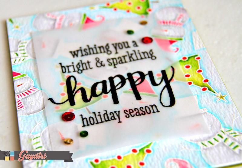 Happy Holiday Season closeup