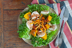 Pumpkin Salad with Fresh Mozzarella