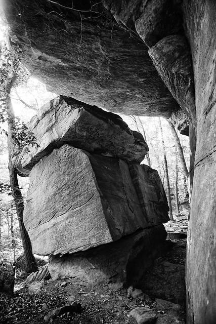 rock cubes fallen