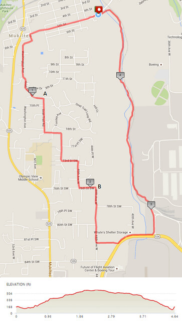 Today's awesome walk, 4.64 miles in 1:16, 9,983 steps, 466ft gain