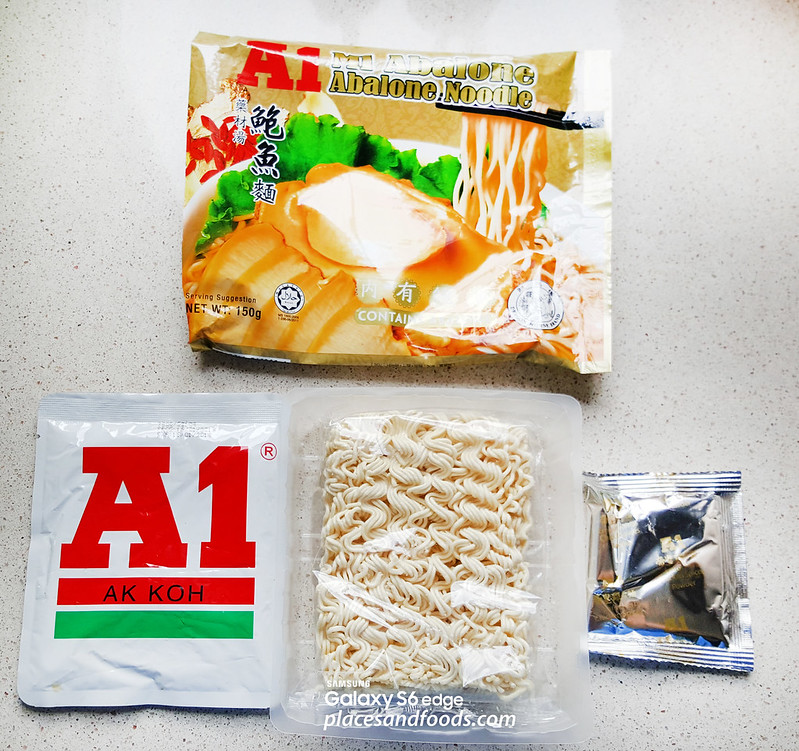 A1 Abalone Instant Noodle ingredients