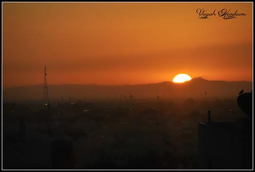 morning sun house mist black building tower fog sunrise uae sharjah fujairahmountains