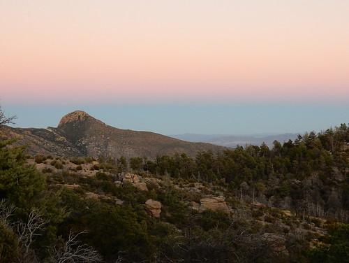 Chiricahua NM - sunset - 1