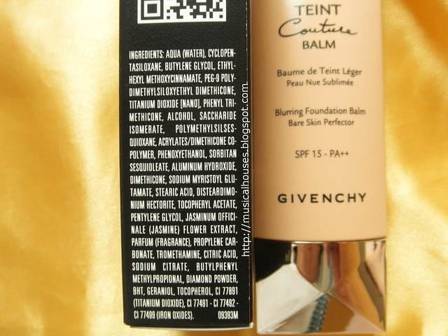 Givenchy Teint Couture Balm Ingredients
