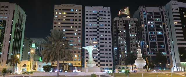 ittihad square at night abu dhabi
