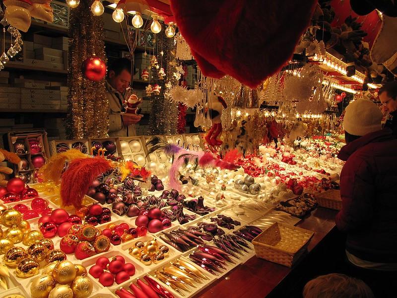 Christmas market in Strasbourg, Alsace, France. Credit francois